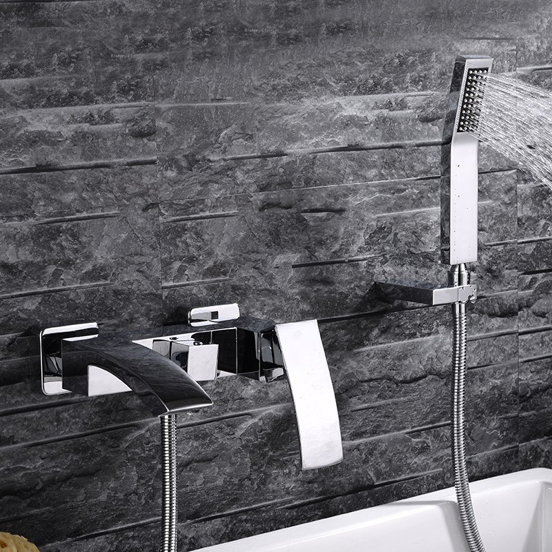 Buy Delphi Water Fall Bath Tub Faucet & Handheld Shower With Hot And ...