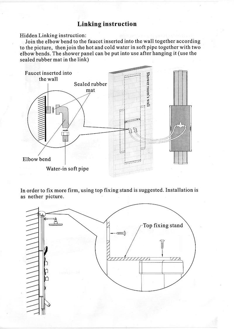 Fontana Aluminium Shower Panel Installation Instructions R1101 All In One I