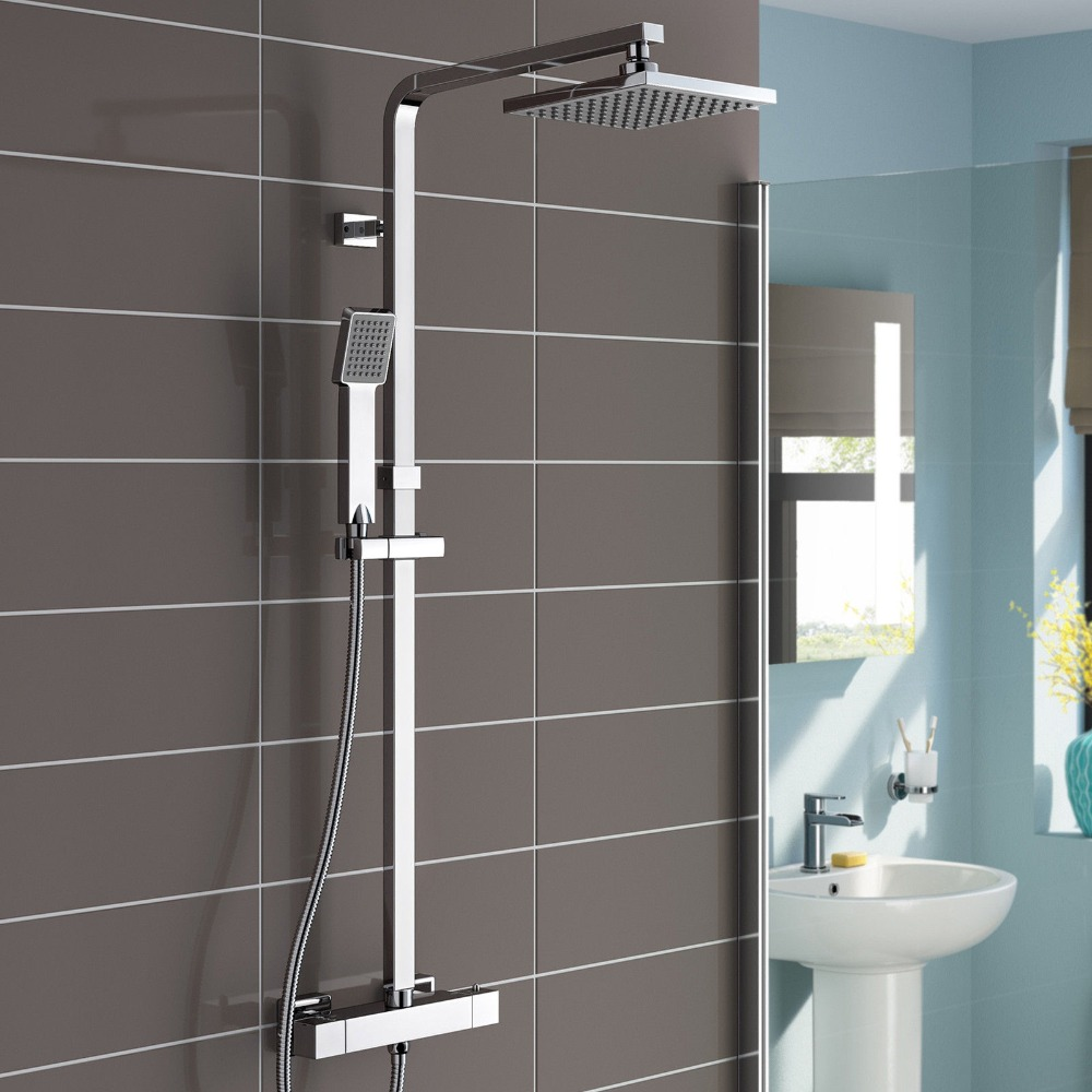 Shop Lamia Thermostatic Double Head Shower Set At Bathselect