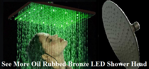 Oil Rubbed Bronze LED Shower Head ...