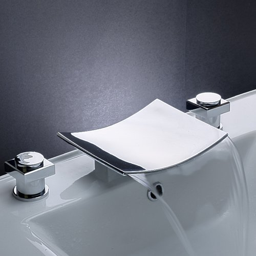Shop Two Handle Desk Mounted Bathroom Tub Faucet Chrome Finished Tap ...
