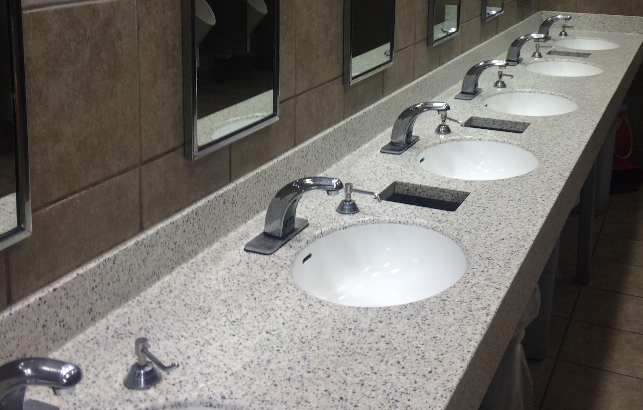 tremendous commercial bathroom vanity sinks units suppliers vanities washroom lights tops grade stainless height offers. Blue Bathroom Tile 3 Commercial Bathroom Countertops Termabell