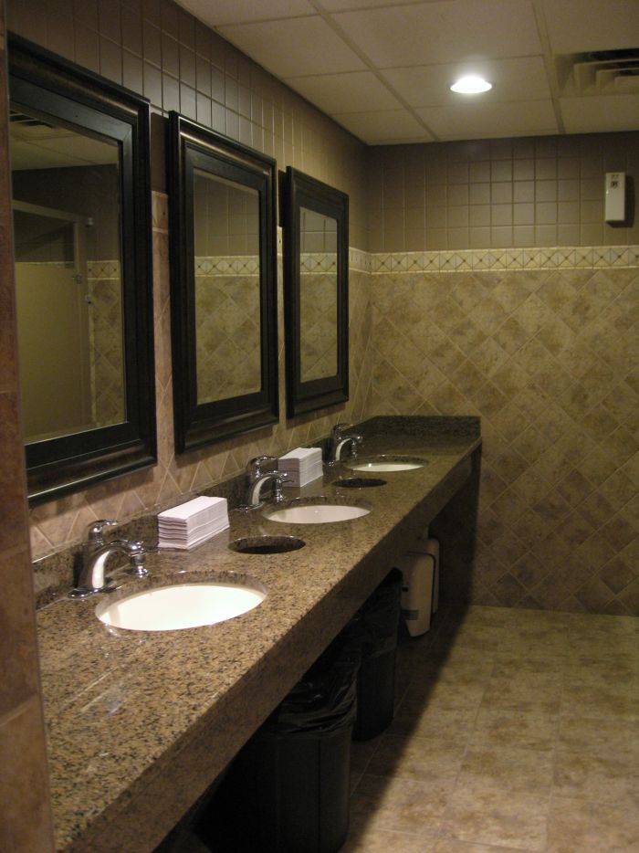 Restaurant bathroom vanities awesome brown