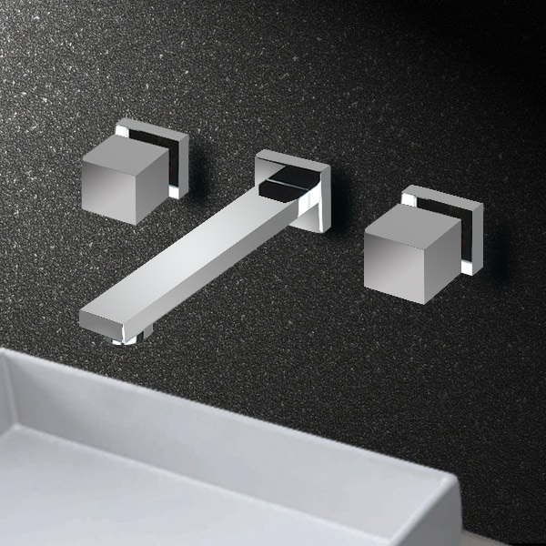 Mera Copper Wall Mount Split Mixer Faucet Bathroom