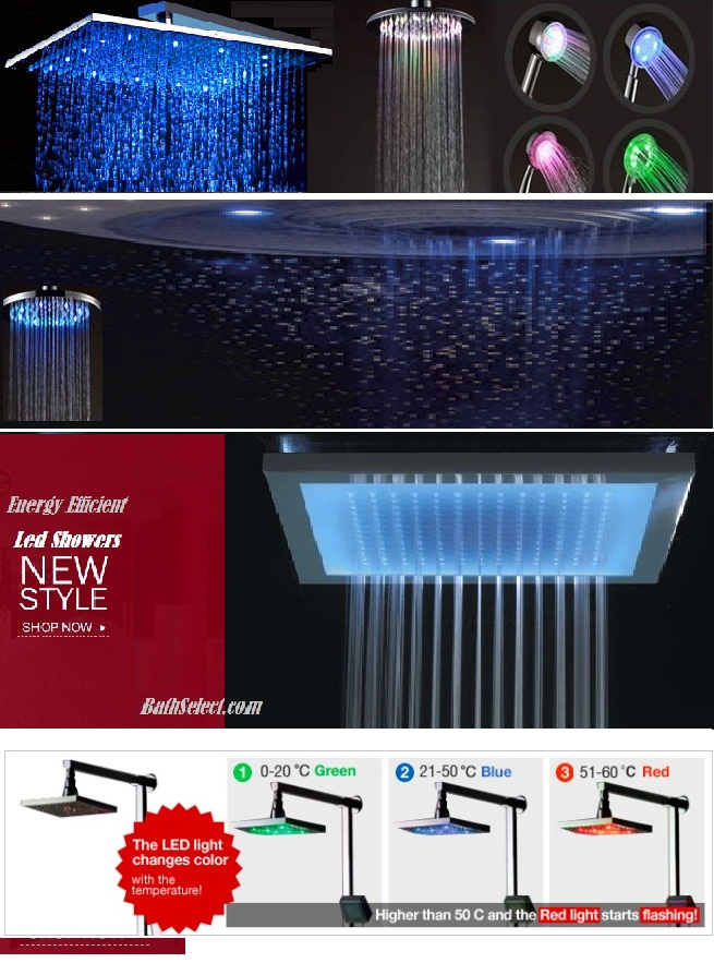 Multi Shower Set led shower head light
