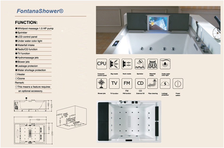 Dropped-in-recessed-bathtub