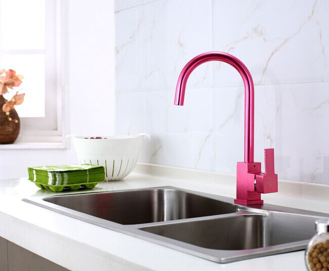 Red Kitchen Sink : Red Aluminum Kitchen Faucet Kitchen Tap Kitchen Mixer Sinke Faucet ...