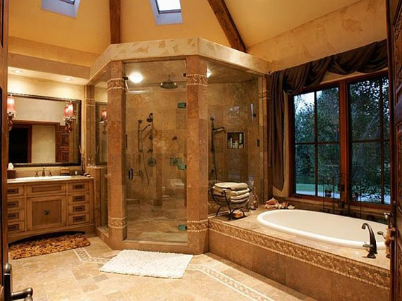 Designing a custom shower for Custom master bathroom designs
