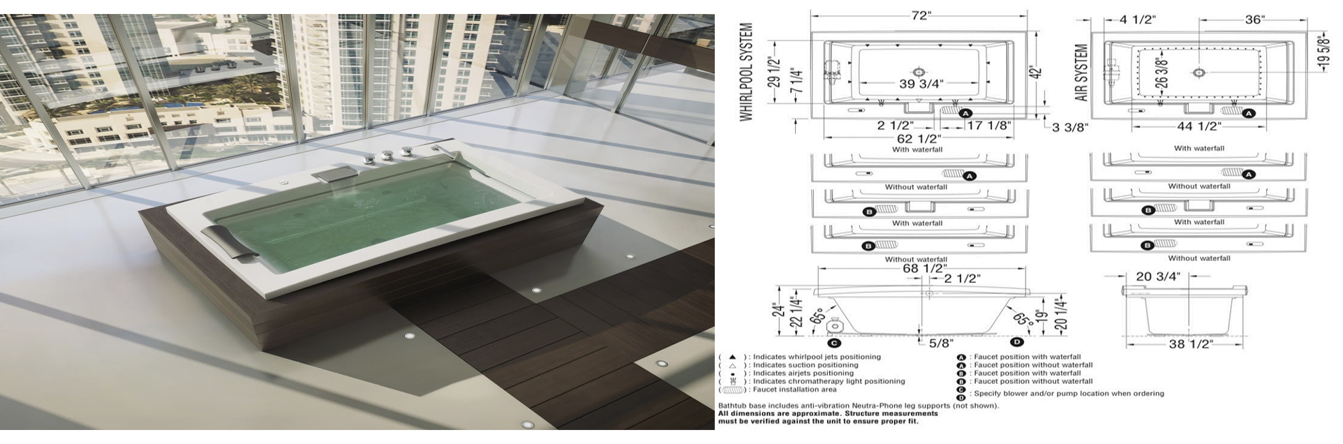 Technical Details Of Surf Hydromassage Bathtub; Details Drawings For  Fontana Luxury Digital Built In Thermostatic Mixing Valve LCD Screen Shower  Mixer
