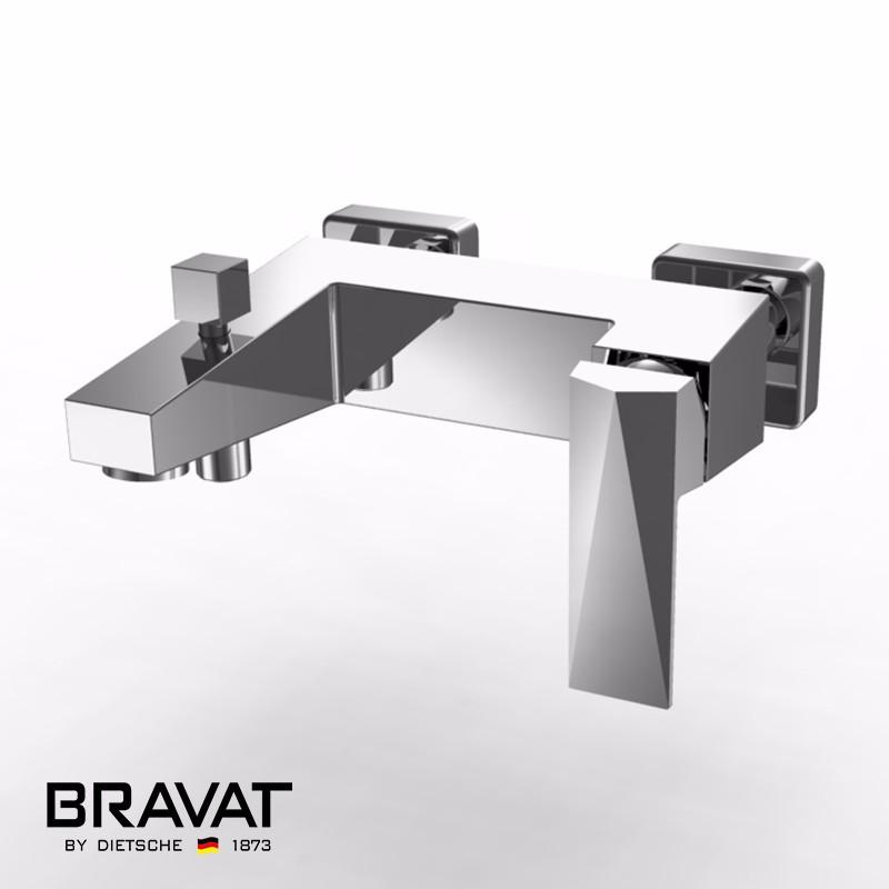 bravat wall mounted bathtub faucet