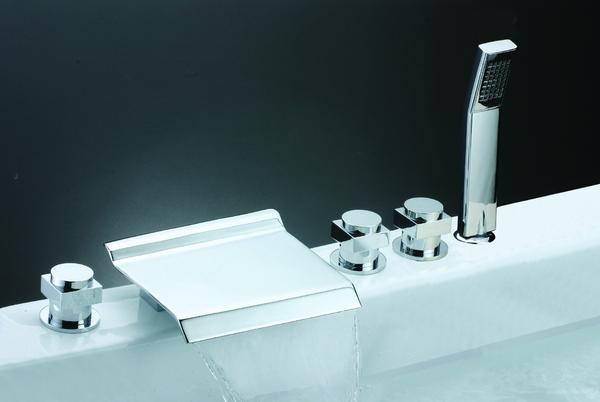 Chrome Widespread Waterfall Mixer BSY-8003