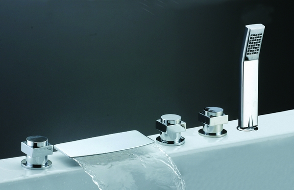 Chrome Waterfall Bathroom Faucet