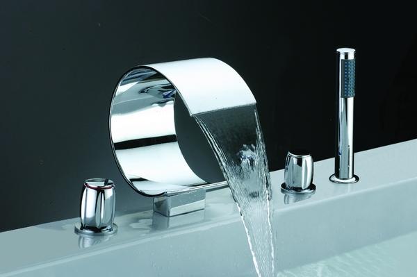 Widespread Waterfall Bathtub Mixer