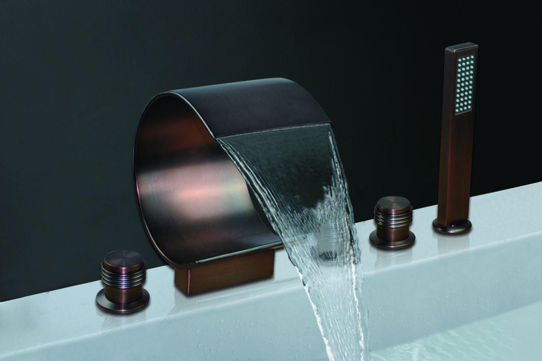 Shop Bronze Waterfall Bathroom Faucet Bsy 8014r 2 At Bathselect