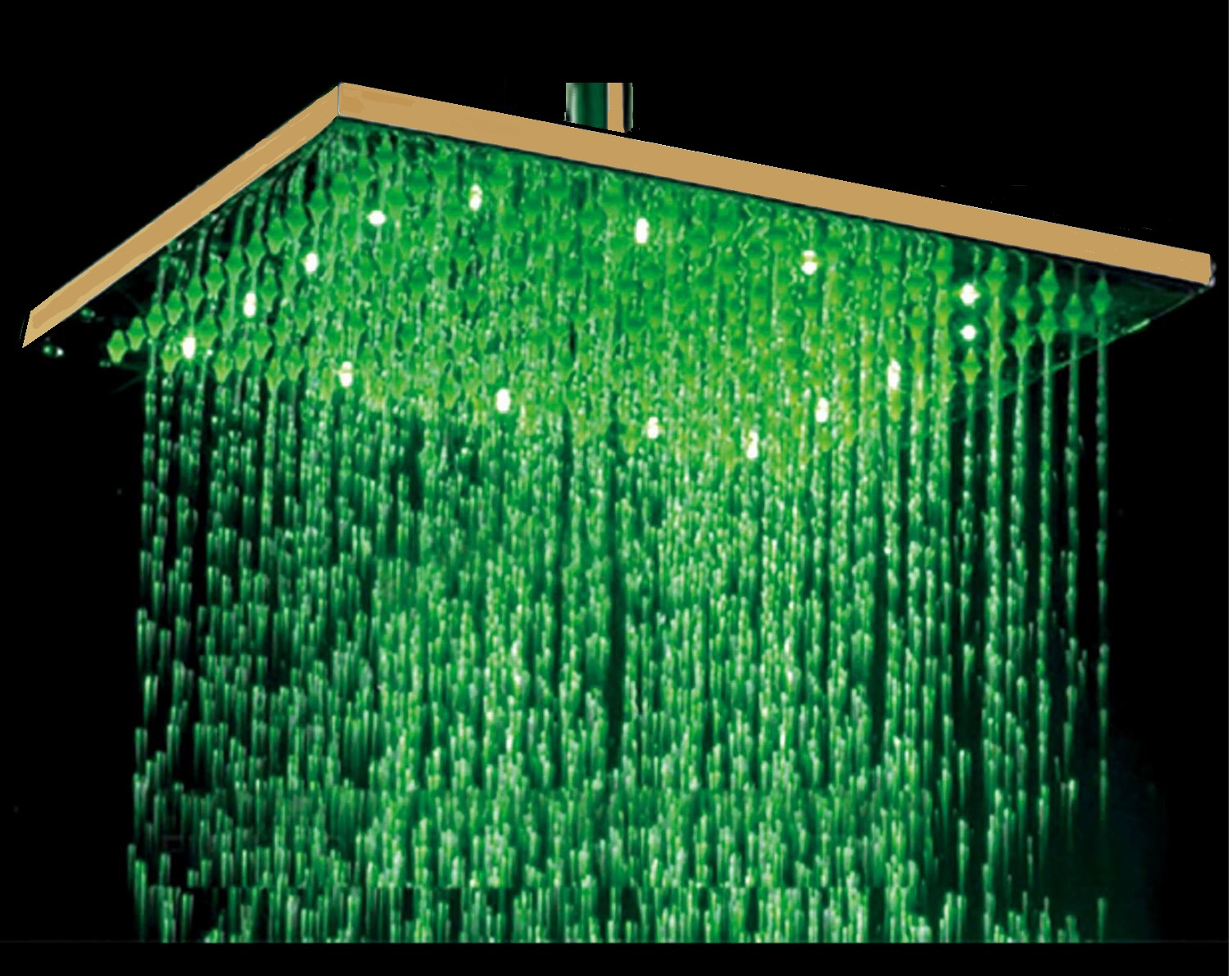 Buy Fontana 12 Gold Tone Finish Square Color Changing Led Rain