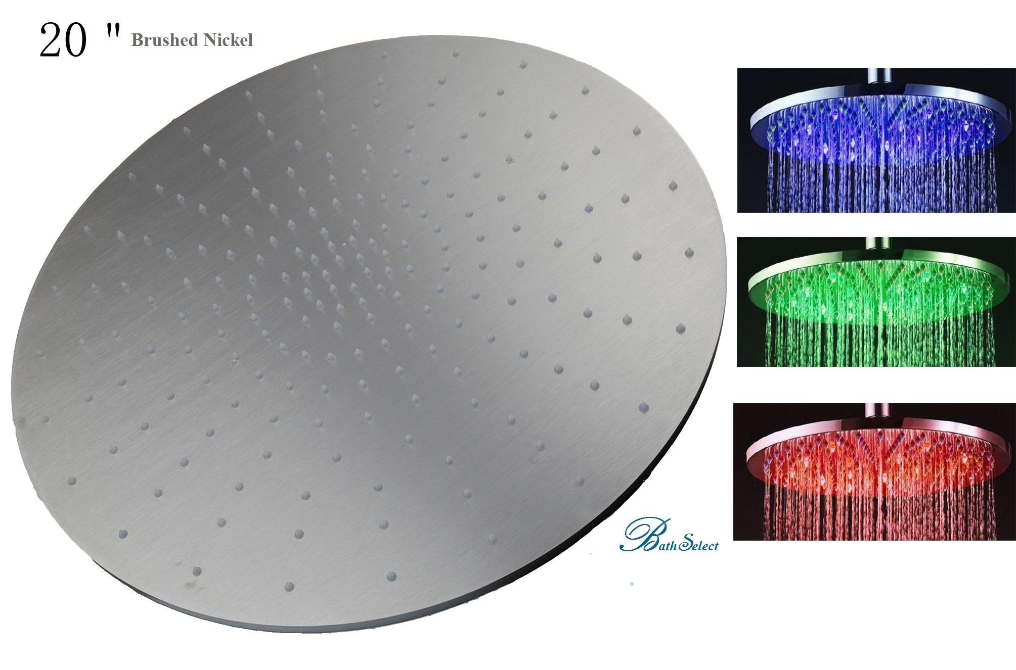 20 Inch Brushed Nickel Led Shower Head