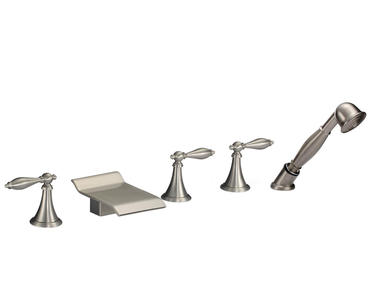 Amiens Triple Handle Solid Brass Bathroom Sink Faucet
