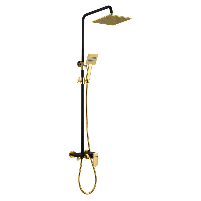 Shop Avignon Solid Brass Luxurious Exposed Gold Bathroom Shower ...