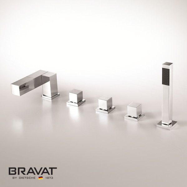 Bravat 5 Hole Bathtub Shower Faucet Import From Swiss