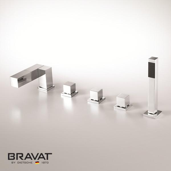 Bravat 5 Hole Bathtub Shower Faucet Import From Swiss