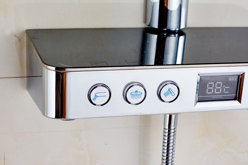 Digital thermostatic shower mixer