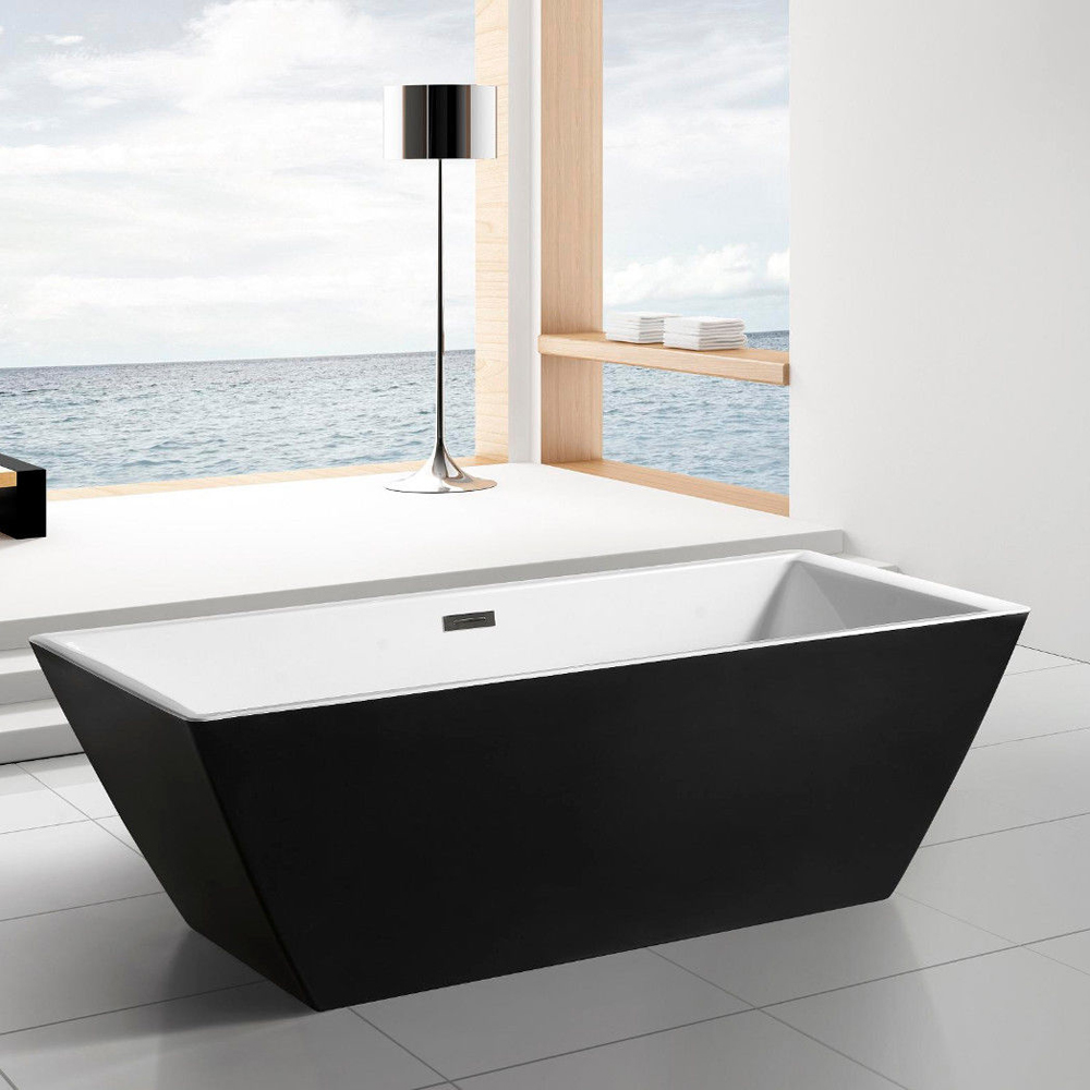 "Square Tub Sedona Freestanding 71"" Square Bathroom Tub"