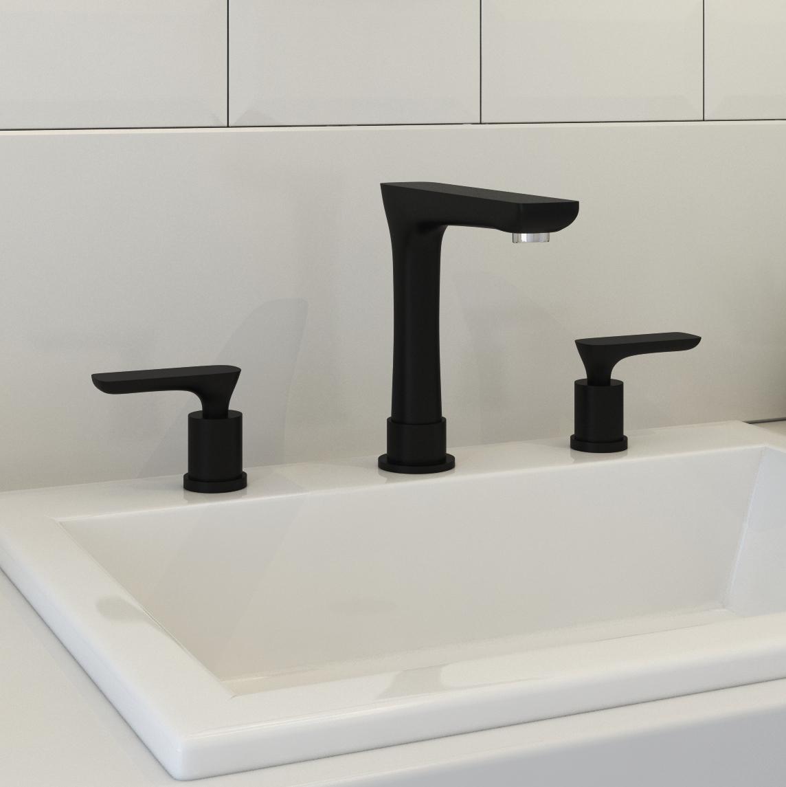 Huelva Dual Handle Oil Rubbed Bronze Bathroom Sink Faucet