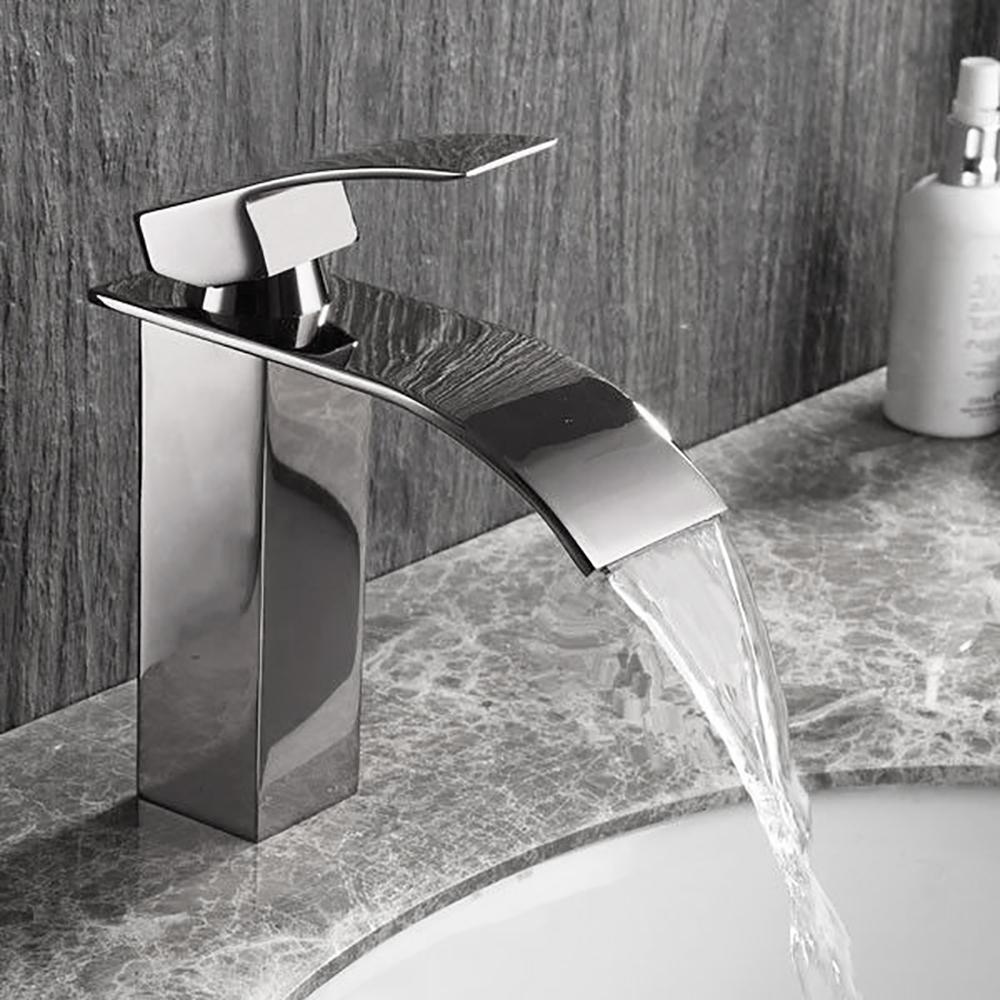Versailles Single Handle Deck Mount Bathroom Sink Faucet