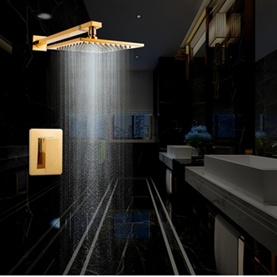 Installation Instructions For Naples Wall Mount Gold Rainfall Showerset