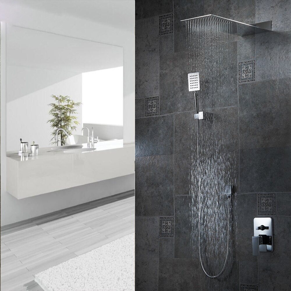 Florence Chrome Plated Bathroom Wall Mount Rainfall Shower Set