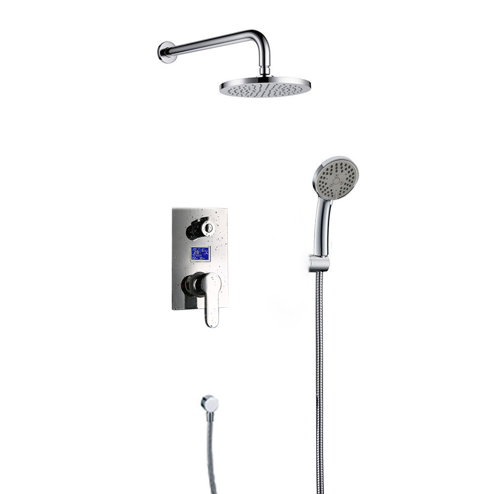 Naples Wall Mount Shower Set with Digital Mixer