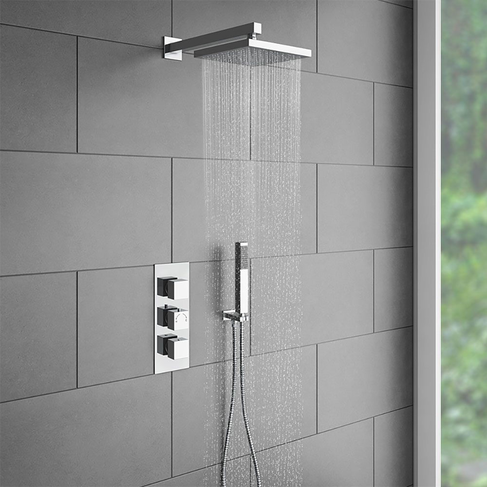 Le Havre Thermostatic Triple Handle Bathroom Shower Set