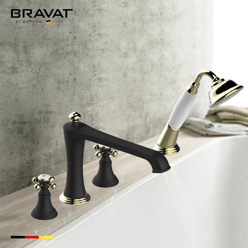 Bravat High Arc Spout Bathtub Faucet