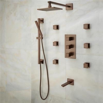 Lunen Oil Rubbed Bronze Shower Set