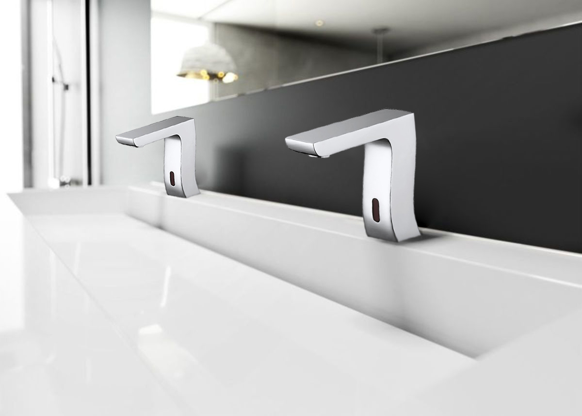 Bravat Trio Commercial Automatic Motion Sensor Faucets