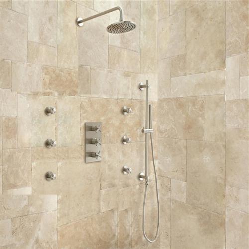 Brushed Nickel Velaro Shower Set