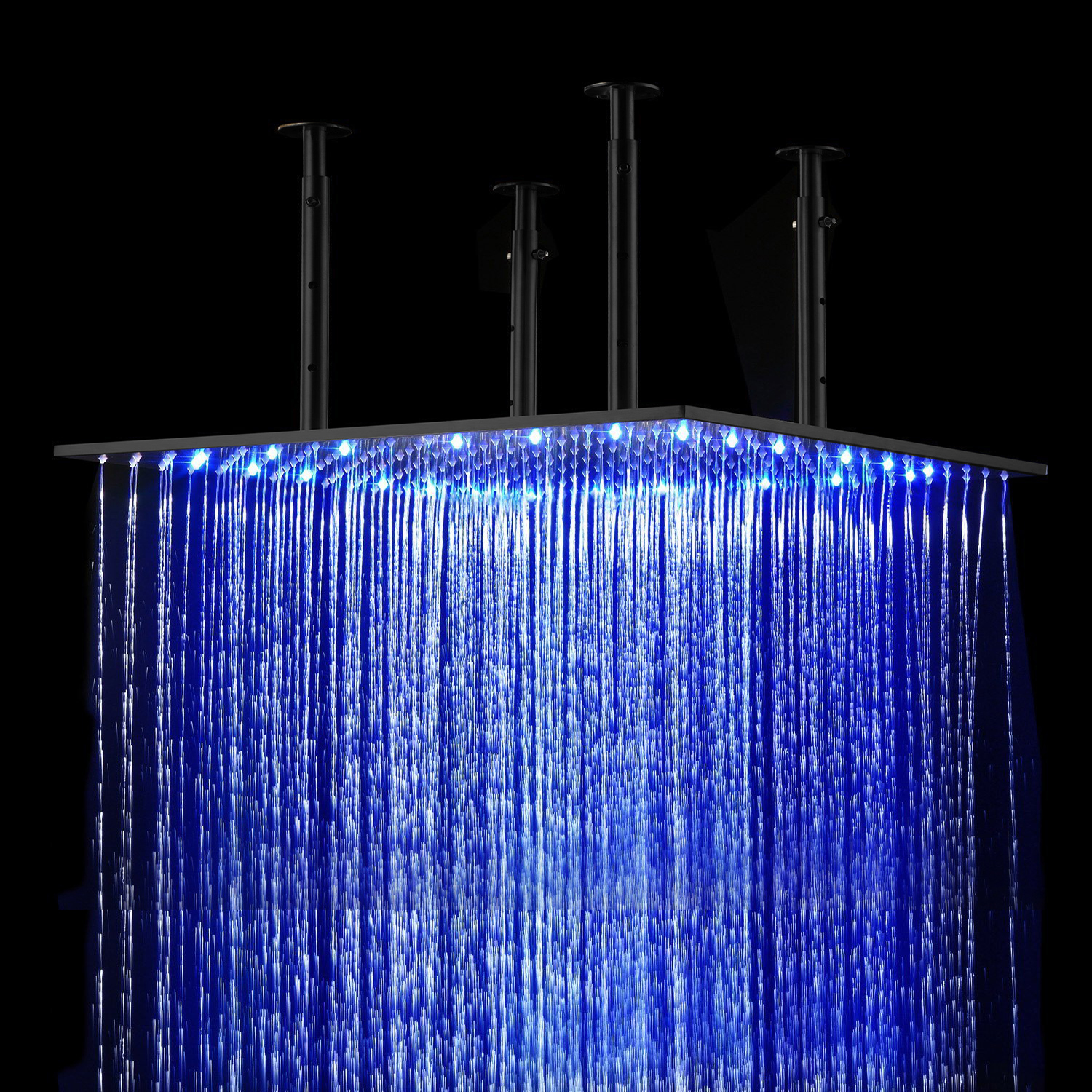 "BathSelect 20"" Oil Rubbed Bronze Square Color Changing LED Rain Shower Head"