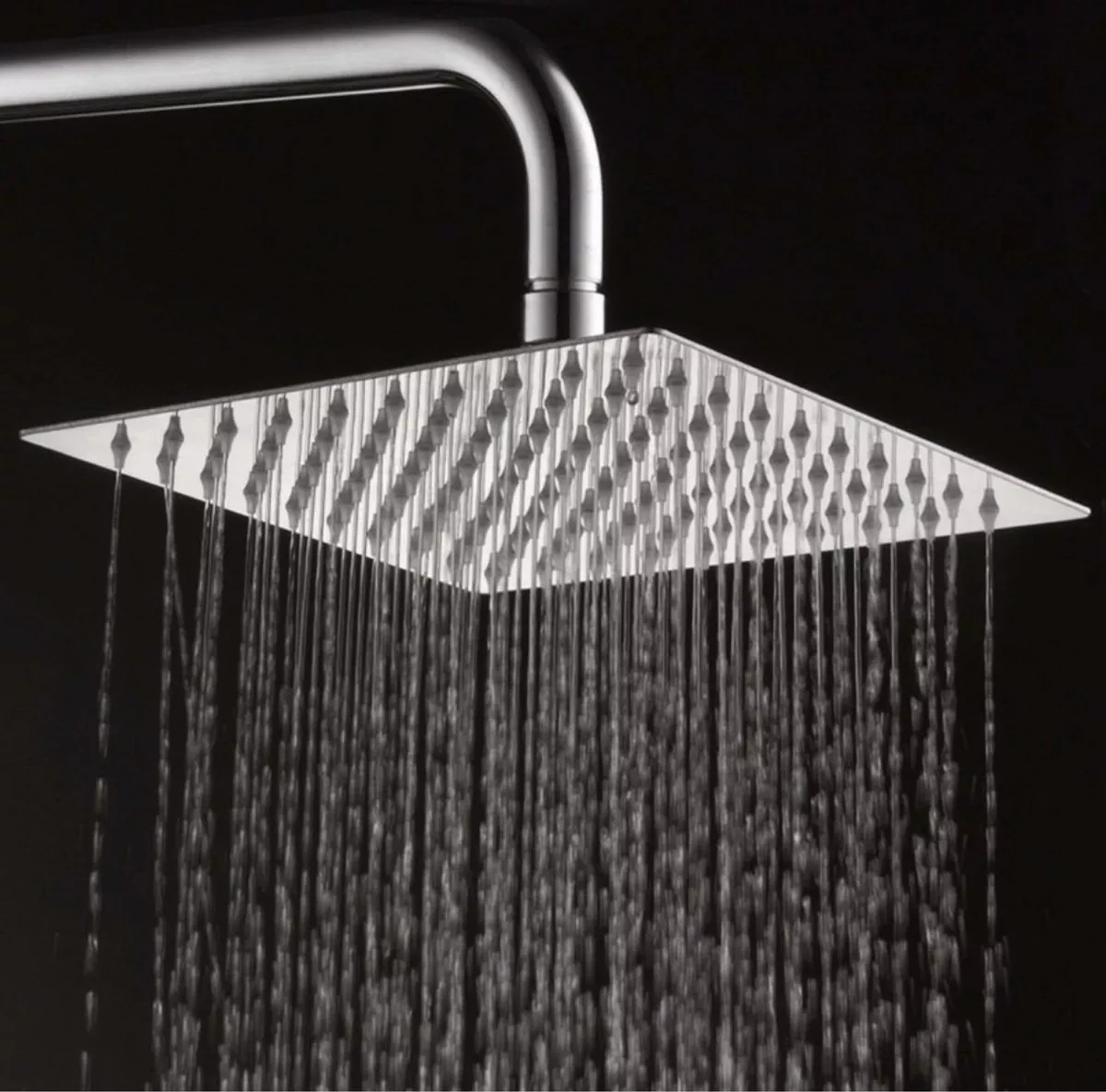 BathSelect Lano Stainless Steel Rotatable Square Rain Chrome Finish Shower Head