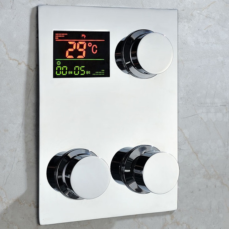 Fontana Luxury Digital Built in Thermostatic Mixing Valve LCD Screen