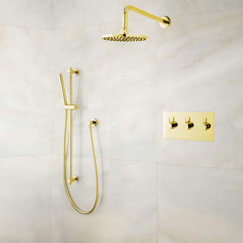 Bathselect Gold Rainfall Shower Set