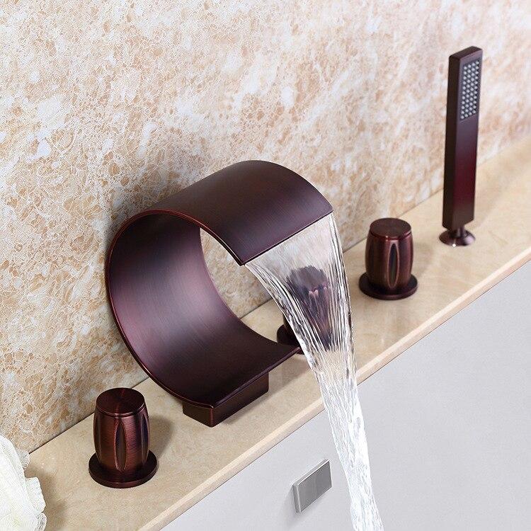 Oil Rubbed Bronze Waterfall Bathroom Faucet BSY-8014R-1