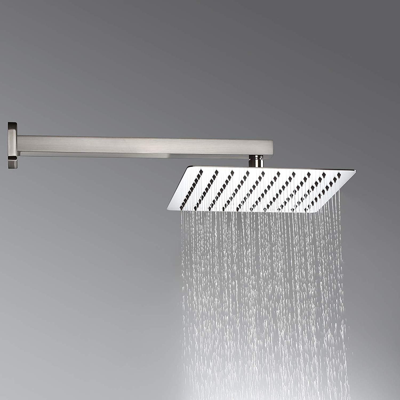 Brushed Nickel 12 Ultrathin Shower Head Wall Mount