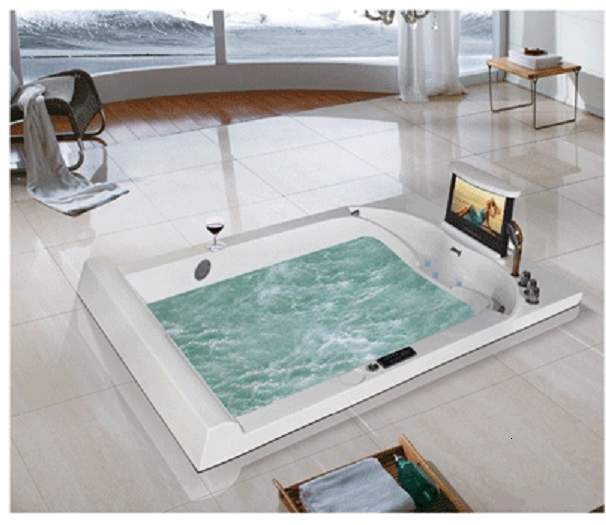 Merveilleux Oasis Recessed Drop In (MT 7365) Massage Bathtub With TV Option
