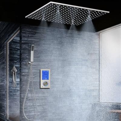 "BathSelect Ravenna Modern 20"" Digital Ceiling Mount Bathroom Shower Head"