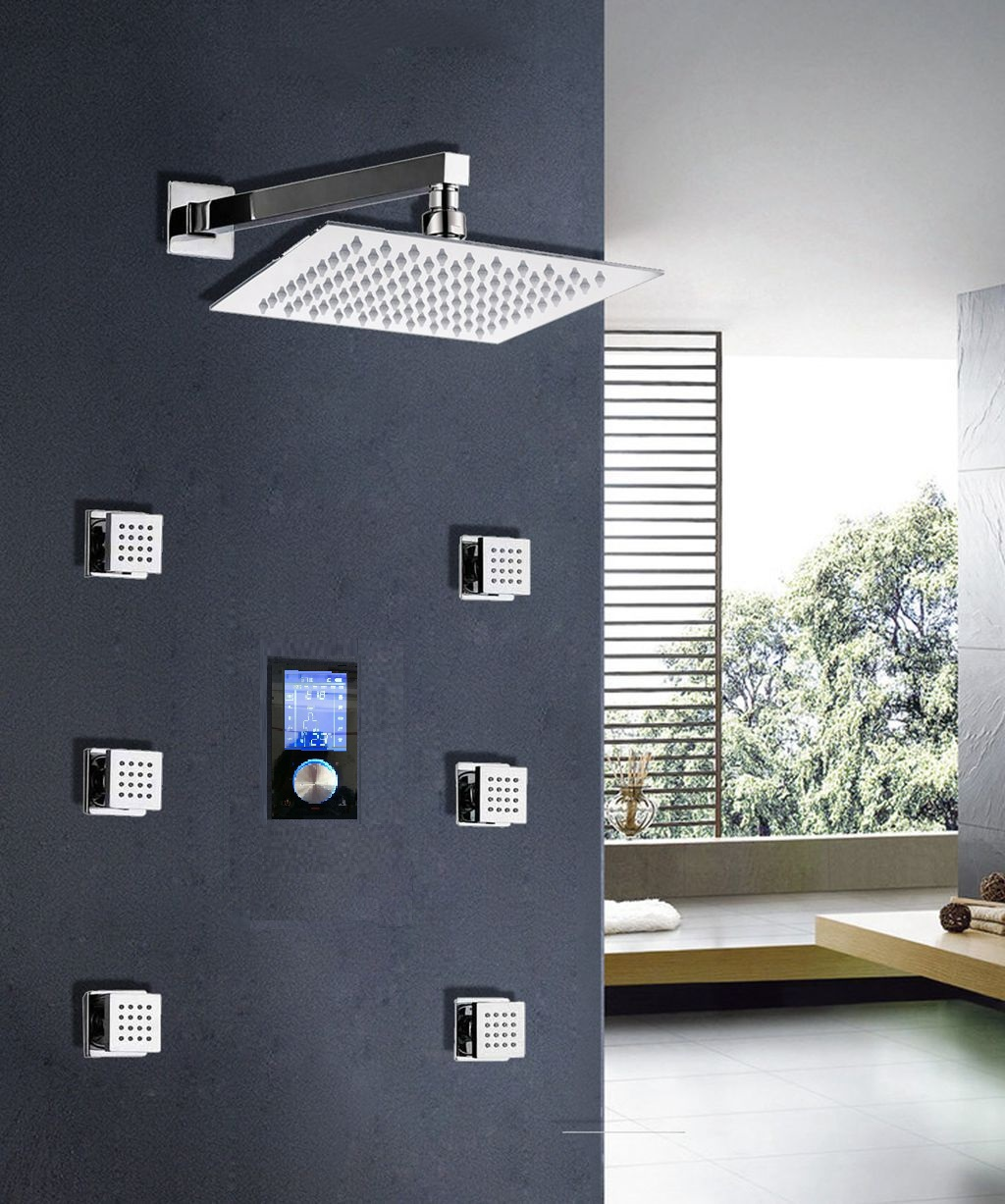 Sensational Multicolor Led Shower Head System For Your | Bathroom