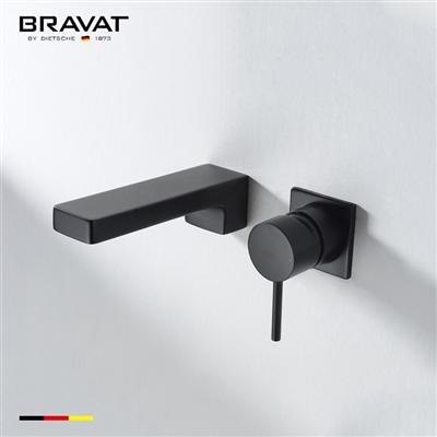 Bravat Black Ceramic Valve Heater Wall Mount Faucet