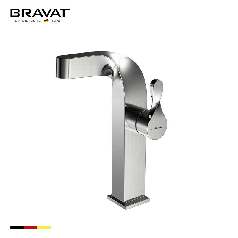 Bravat Deck Mount Single Hole Chrome Finish Faucet