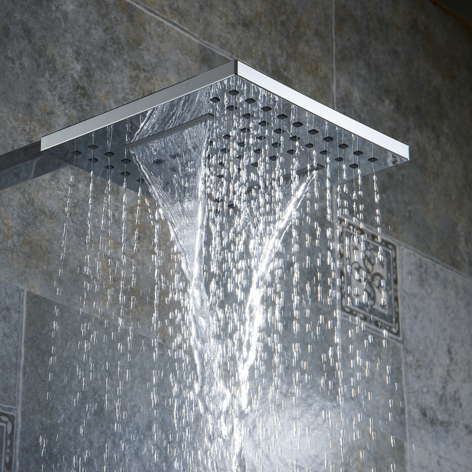 Breges Square Waterfall And Rainfall Shower Head
