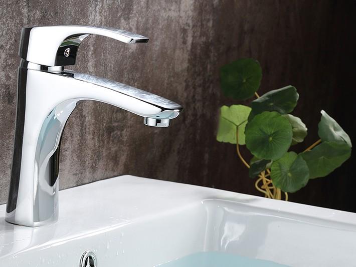 Brescia Single Handle Deck Mounted Bathroom Sink Faucet