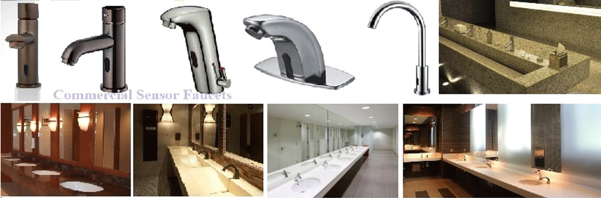 Oil Rubbed Bronze Automatic Commercial Motion Sensor Faucets